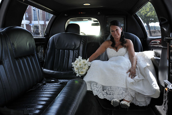 The beautiful bride waits.